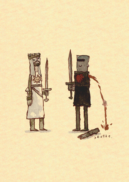 ".Scott C. ""Monty Python Showdown"" Greeting Card"