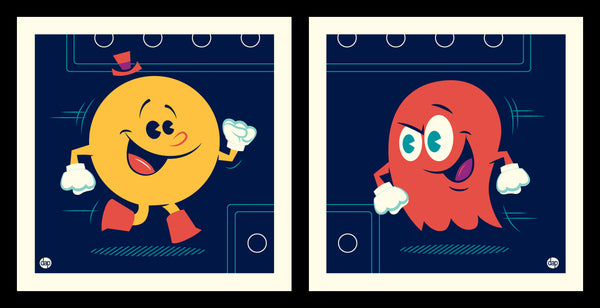 "Dave Perillo ""Pac Vs Blinky"" Print Set"
