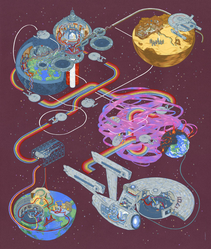 "Andrew DeGraff ""Paths of Khan"" Print"