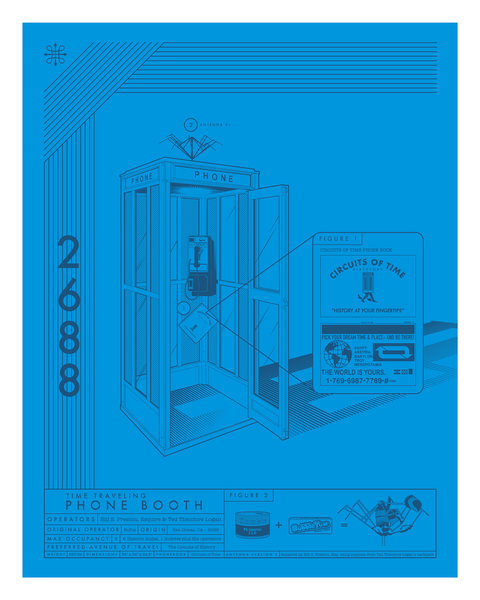 "Jeff Boyes ""2688-Time Traveling Phone Booth"" Print"