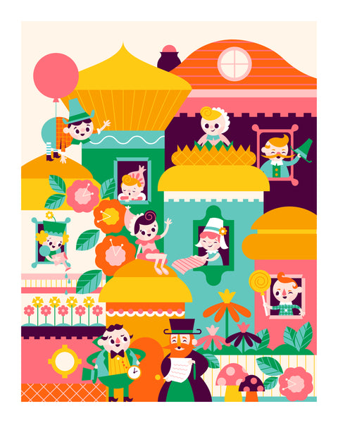 "Pretend Friends ""Munchkinland"" Print"
