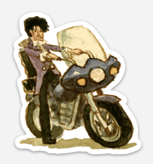 ".Scott C. ""Purple Rain Showdown"" Sticker"