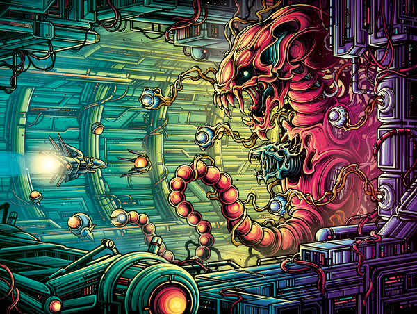 "Dan Mumford ""The Bydo, a man-made nightmare."" Print"
