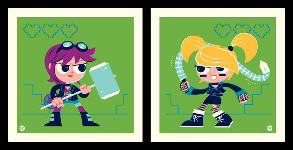 "Dave Perillo ""Ramona Vs Roxy"" Print Set"