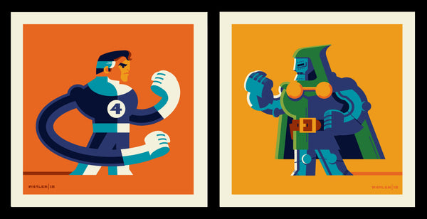 "Tom Whalen ""Reed Vs Victor"" Print Set"