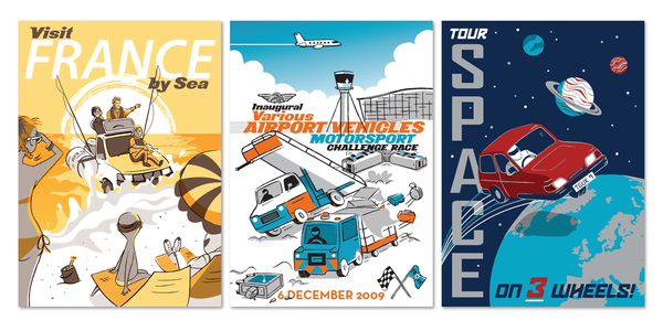 "Ridge ""Where In The World Are Jezza, Hamster, Captain Slow and The Stig?"" Postcard Print Set"