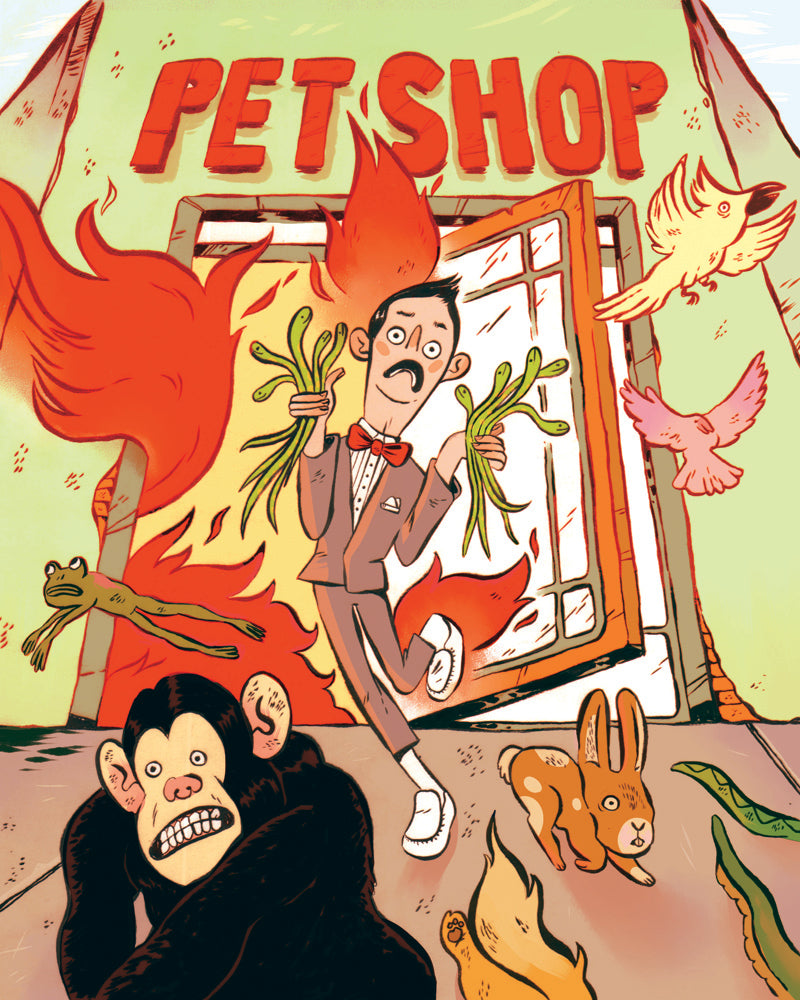 "Rose Feduk ""Pet Shop Fire"" Print"
