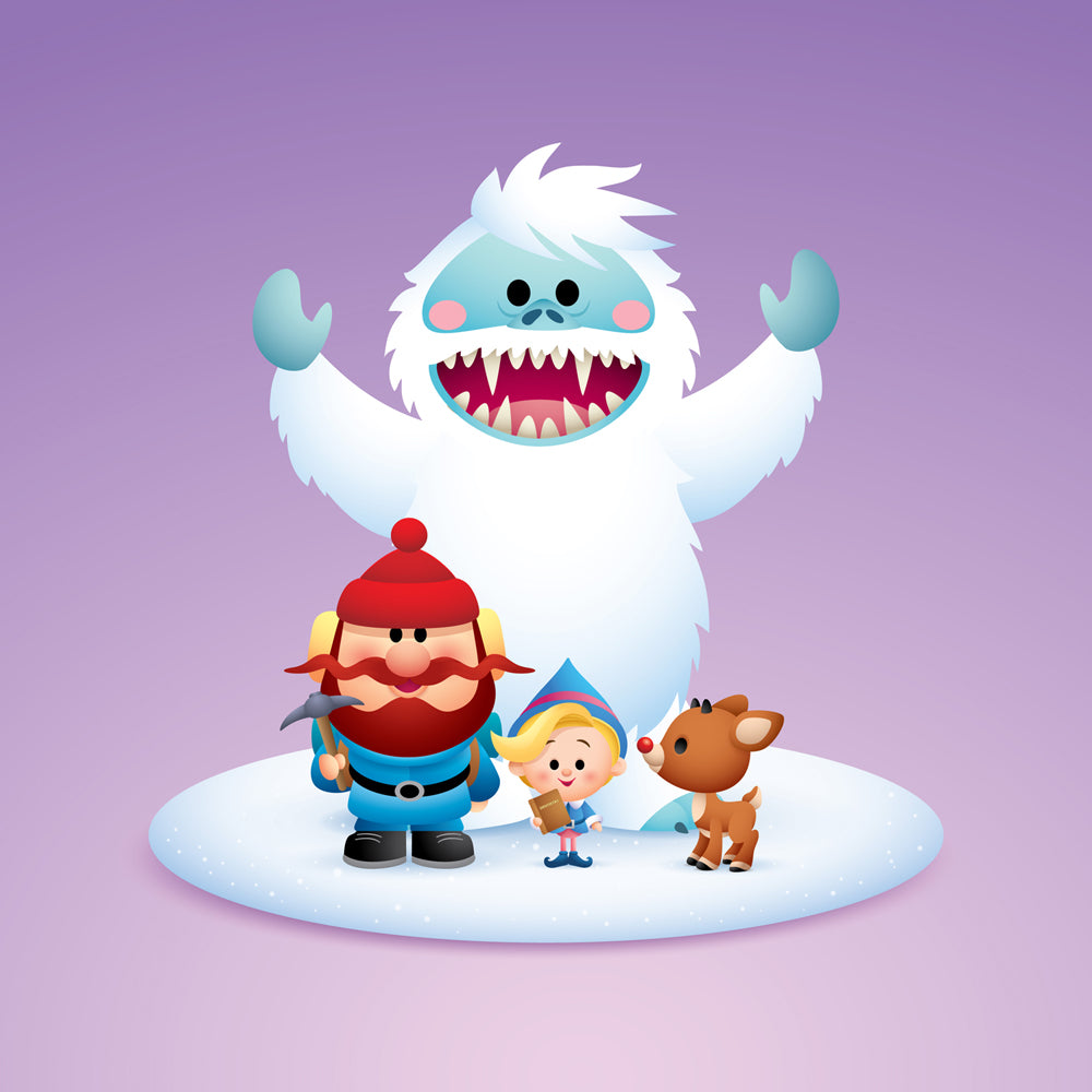 "Jerrod Maruyama ""Rudolph and Friends - Group (Variant)"" Print"
