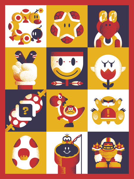 "Ryan Brinkerhoff ""Mario World Mashup"" Print"