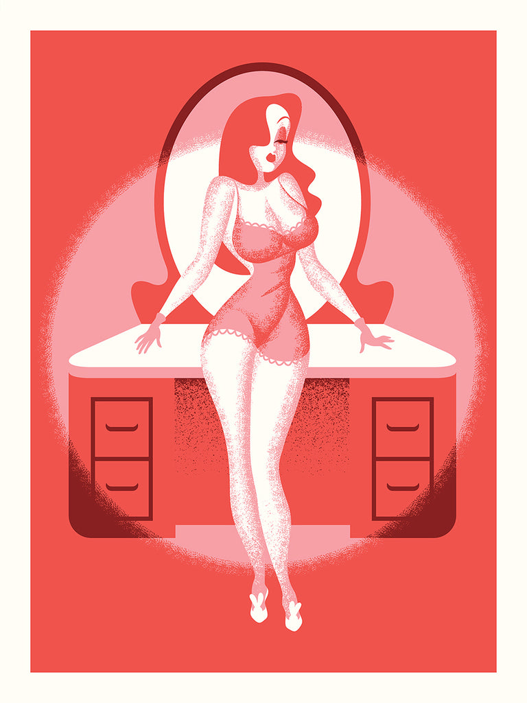 "Ryan Brinkerhoff ""Jessica Rabbit Pin Up: Night Off"" Print"