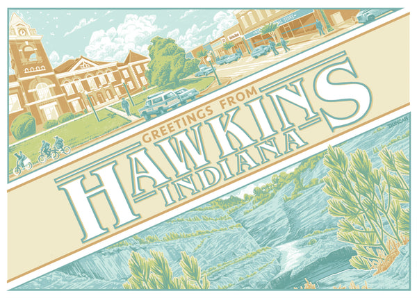 "Duncan Robertson ""Greetings from Hawkins"" Postcard Print"