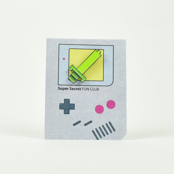 "SUPER SECRET FUN CLUB ""8bit Sword (Gameboy Edition)"" Pin"