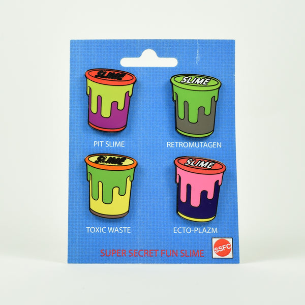 "SUPER SECRET FUN CLUB ""Slime Club"" Pin Set"
