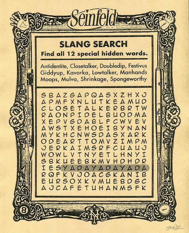 "Steve Dressler ""Slang Search"" Print"