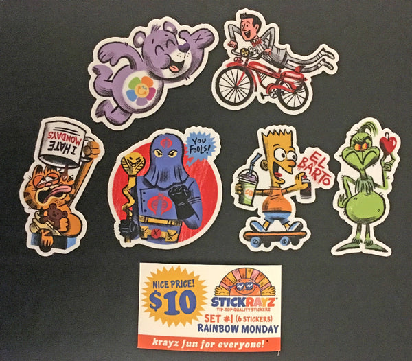 "Luke Flowers ""Rainbow Monday"" Sticker Set"