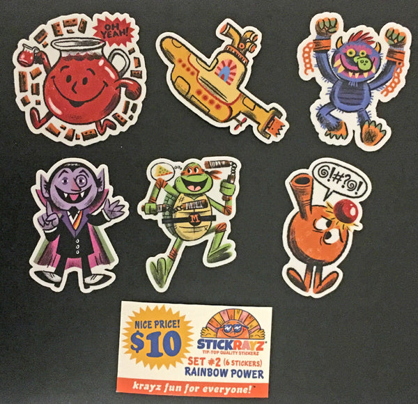"Luke Flowers ""Rainbow Power"" Sticker Set"