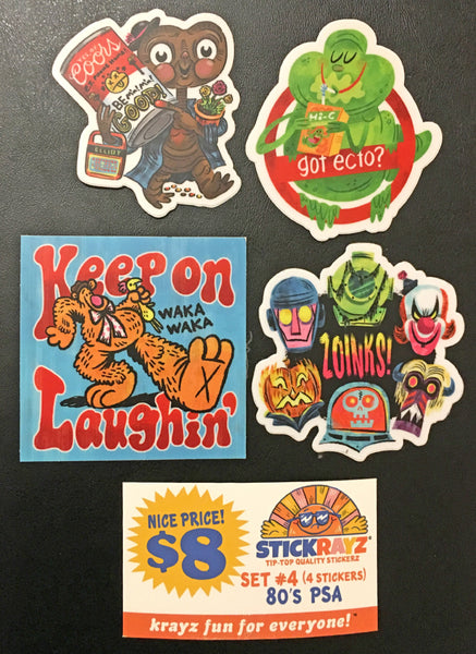 "Luke Flowers ""80s PSA"" Sticker Set"