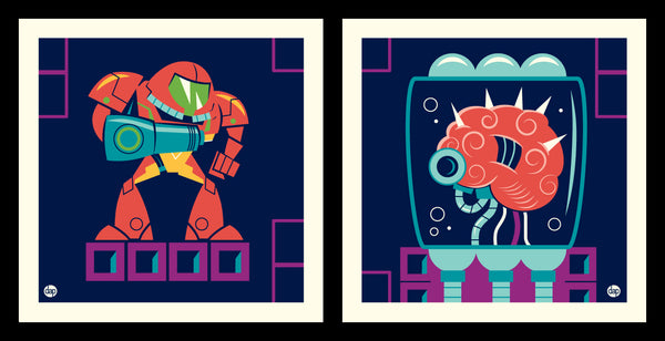 "Dave Perillo ""Samus Vs Mom"" Print Set"