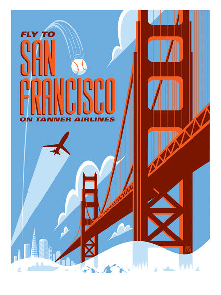 "Eric Tan ""San Francisco"" Print"
