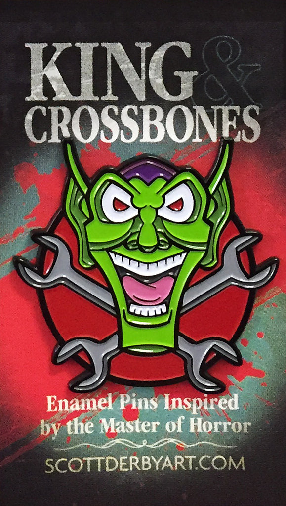 "Scott Derby ""King & Crossbones: Happy Toyz"" Pin"