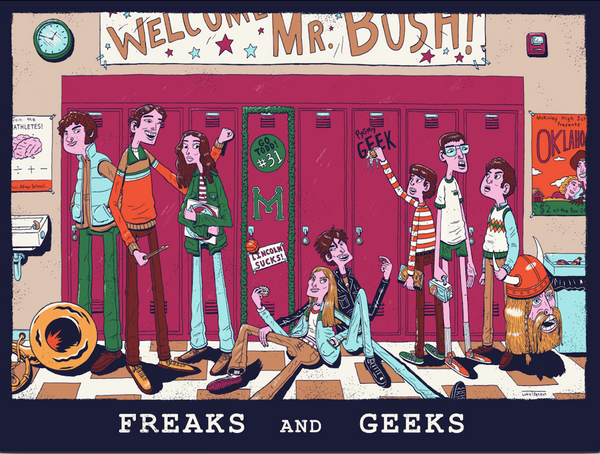 "Luke T. Benson ""Freaks and Geeks"" Print"