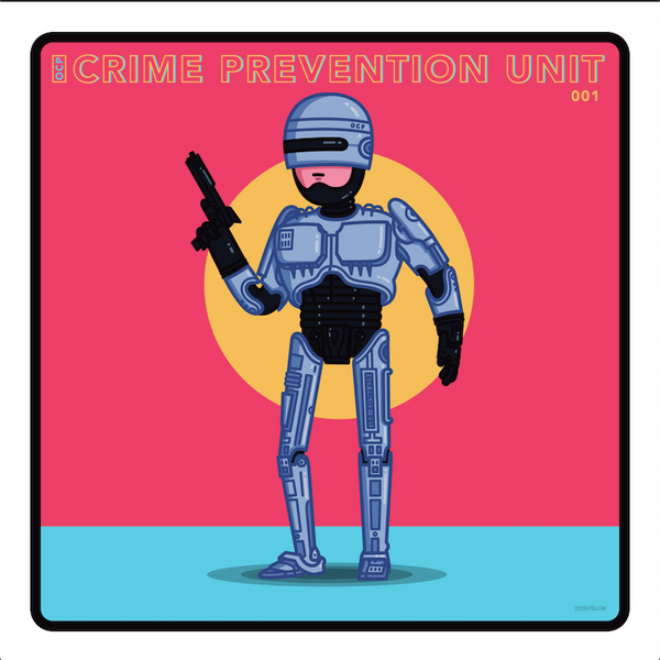 "Donutglow ""OCP Crime Prevention Unit 001"" Print"