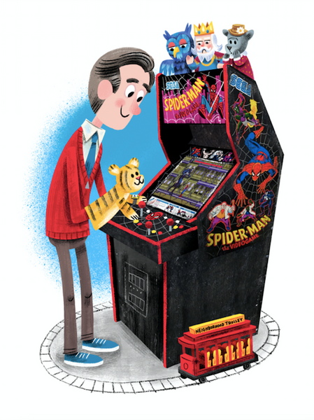 "Luke Flowers ""Friendly Neighborhood Superheroes (ARCADE DAYZ series)"" Print"