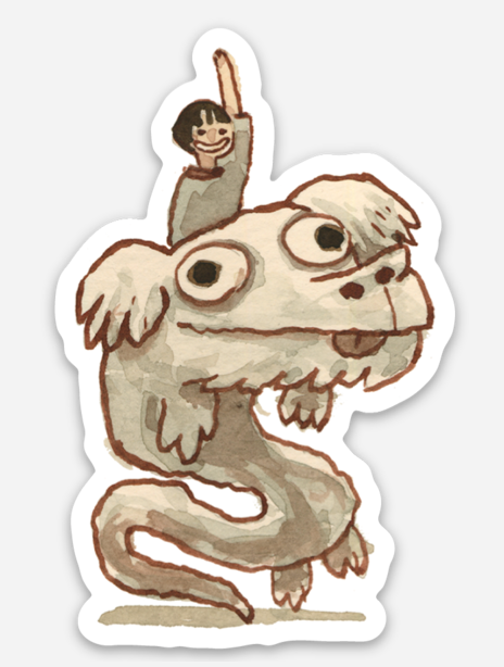 ".Scott C. ""Neverending Story Showdown"" Sticker"