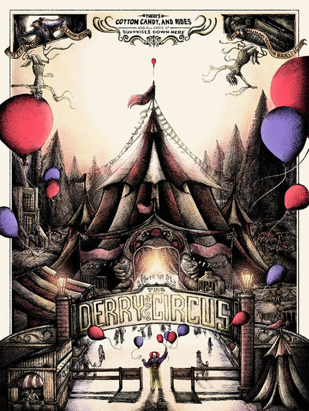 "Shane Lewis ""IT's at the Derry Circus"" Print"