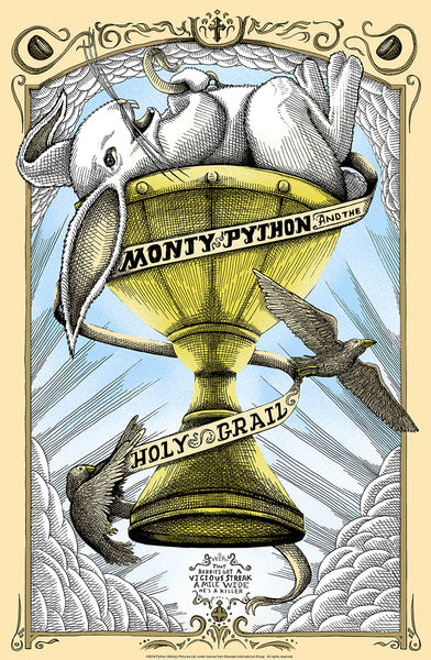 "Shane Lewis ""Monty Python and the Holy Grail"" Framed Print"