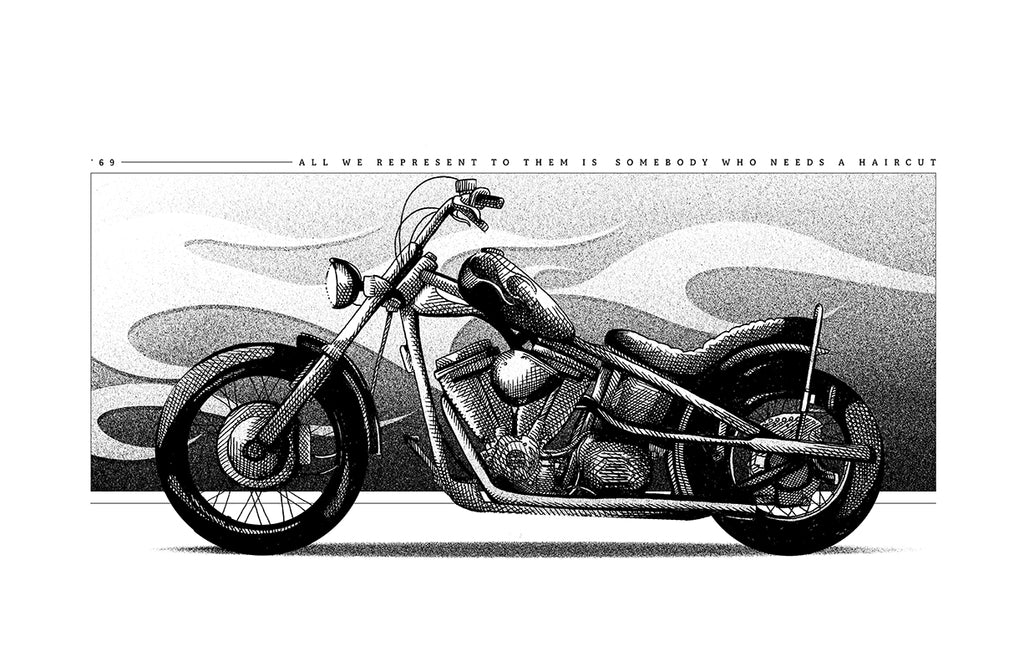 "Shane Lewis ""Easy Rider / Billy"" Print"