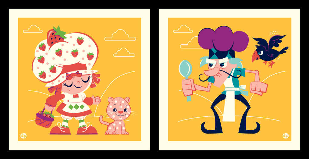 "Dave Perillo ""Shortcake Vs Pie"" Print Set"
