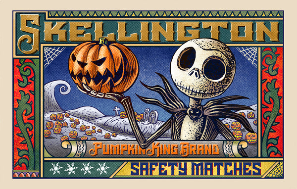 "Chet Phillips ""Skellington Matches"" Print"