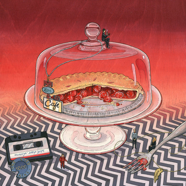 "Nicole Gustafsson ""Slice of Pie and Damn Fine Coffee"" Print"