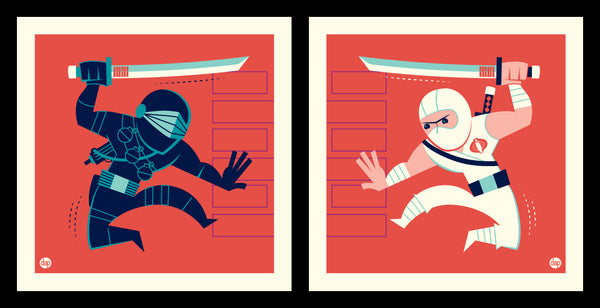 "Dave Perillo ""Snake Vs Tommy"" Print Set"
