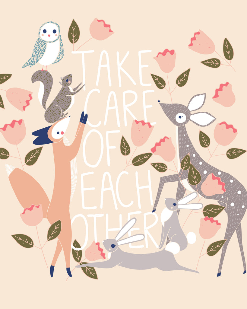 "Stacie Bloomfield ""Take Care of Each Other"" Print"