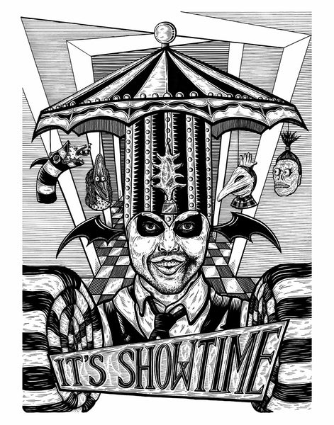 "Stacy Bates ""It's Showtime"" Print"
