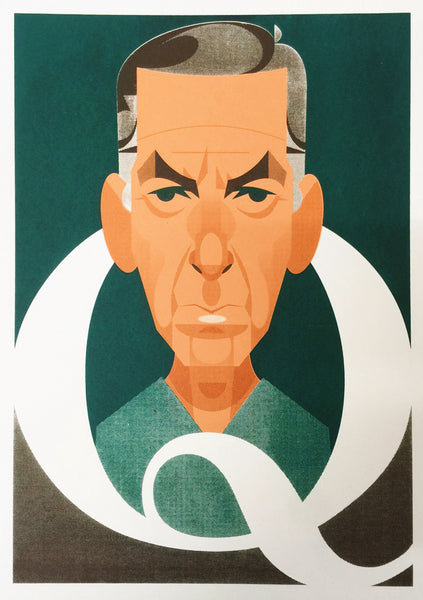 "Stanley Chow ""Q is for Quincy"" Print"