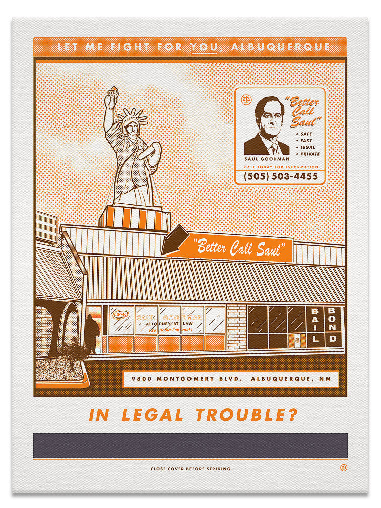 "Steve Dressler ""Better Call Saul"" Canvas Print"