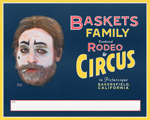 "Steve Dressler ""Baskets Family Rodeo & Circus"" Canvas Print"