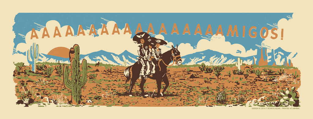 "T-bone & Aljax ""We're not Mexicans, we're from out of town"" Print"