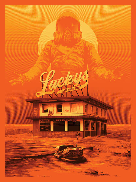 "Tracie Ching ""Lucky (Orange)"" Print"