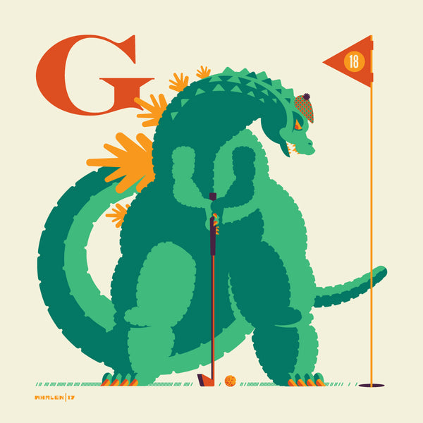 "Tom Whalen ""G is for Golfing"" Print"
