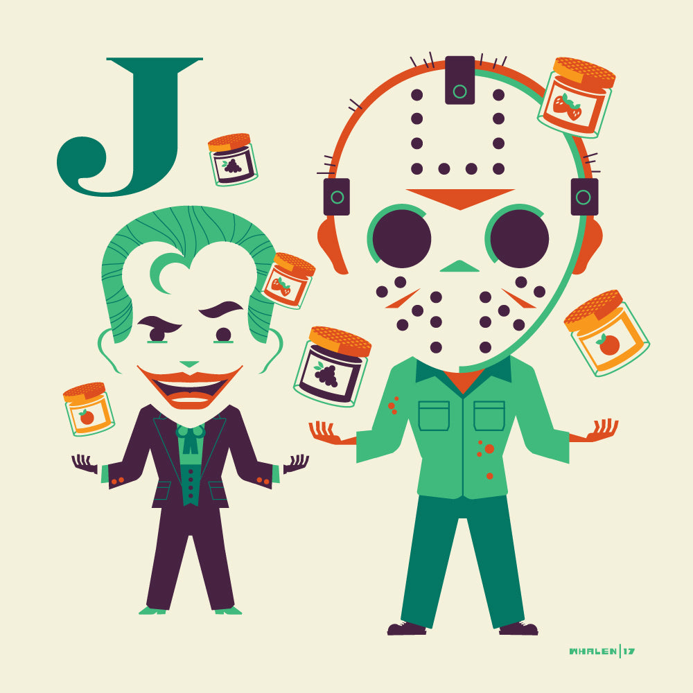 "Tom Whalen ""J is for Juggling Jam"" Print"