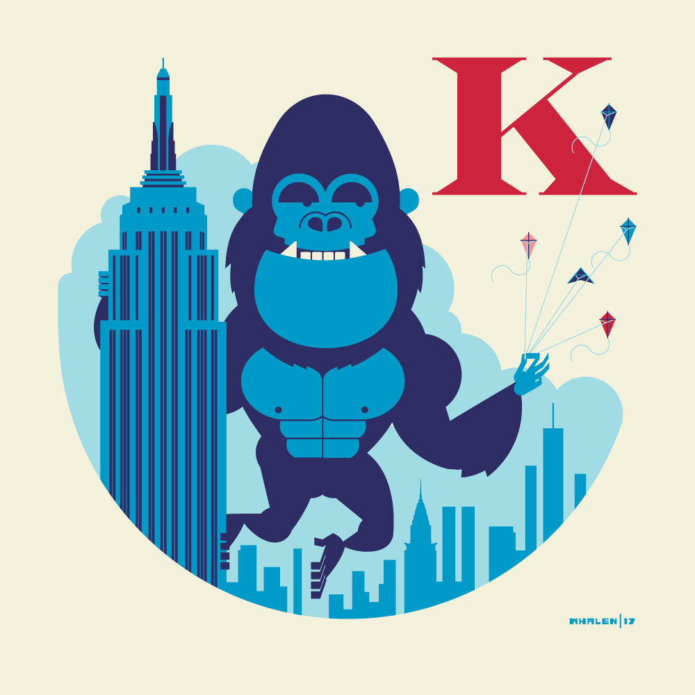 "Tom Whalen ""K is for Kite Flying"" Print"