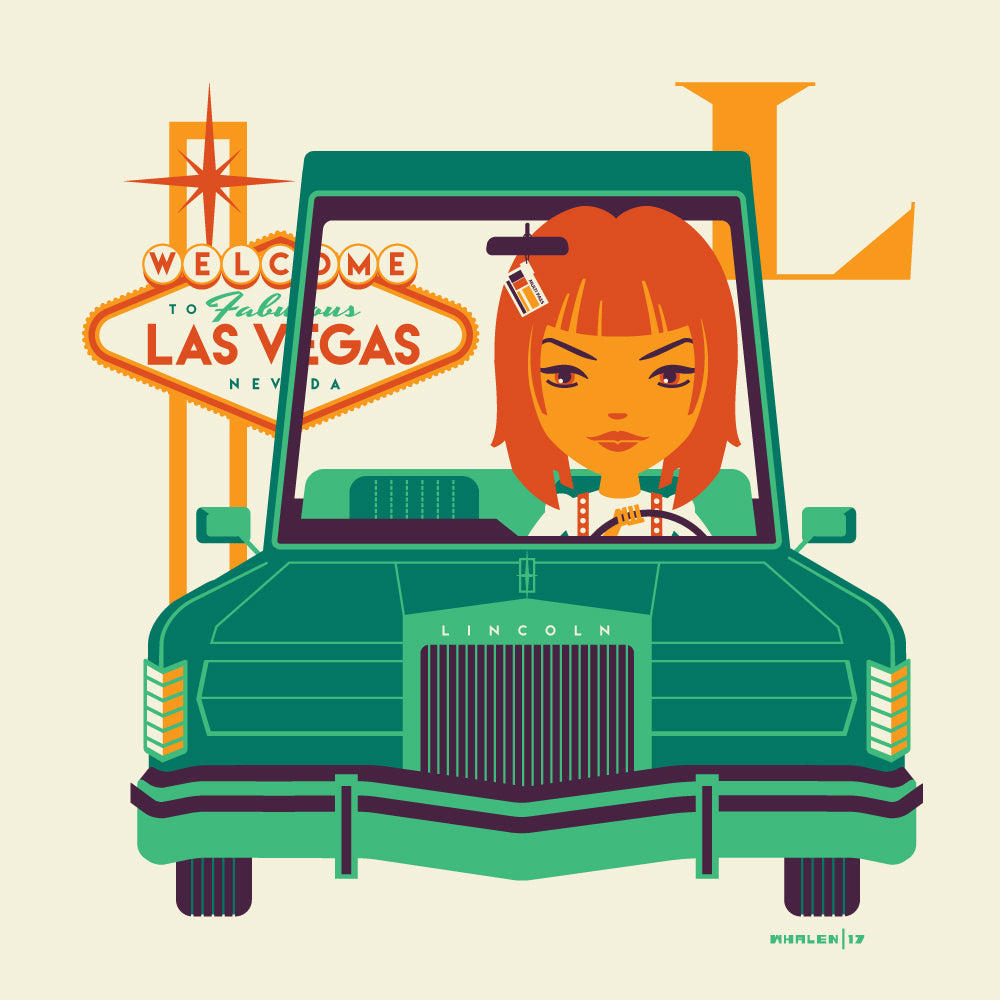 "Tom Whalen ""L is for Leaving Las Vegas"" Print"