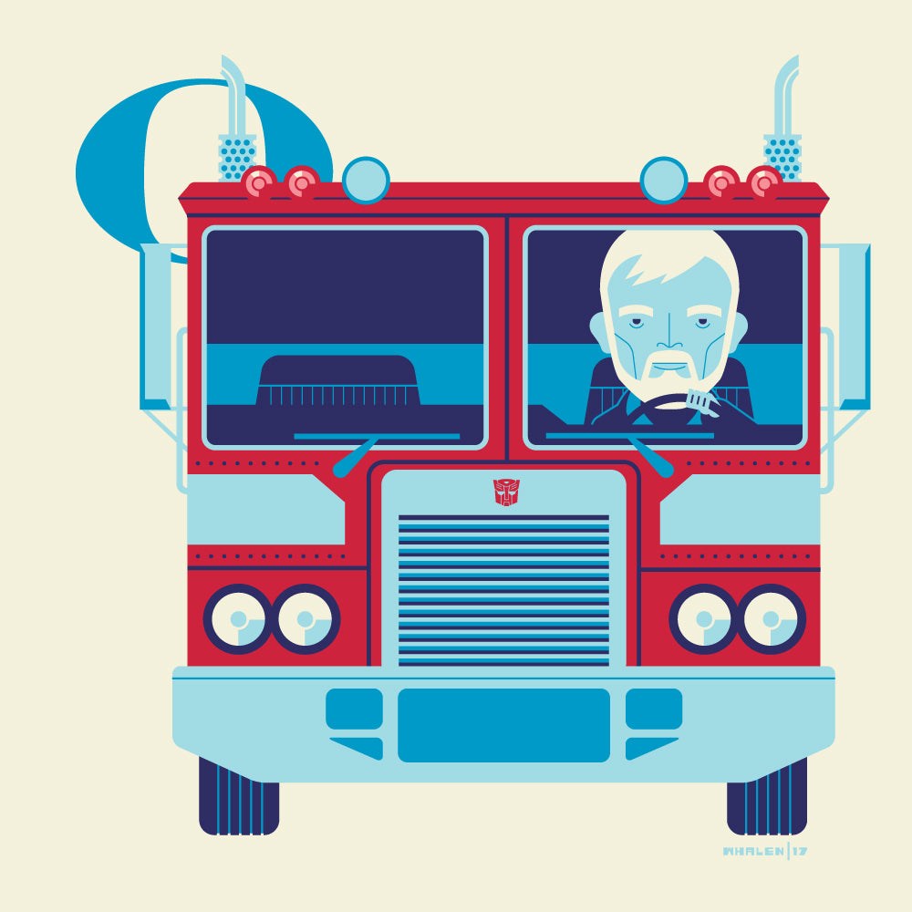 "Tom Whalen ""O is for Operating Optimus"" Print"