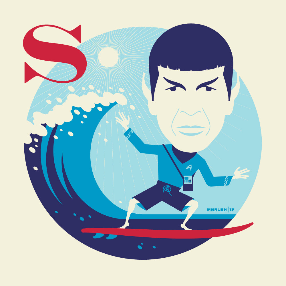 "Tom Whalen ""S is for Surfing"" Print"