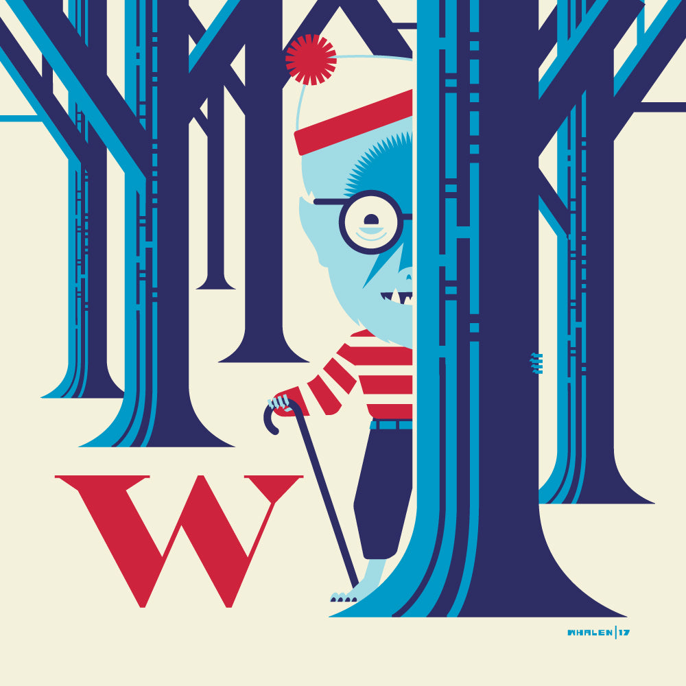 "Tom Whalen ""W is for Where's Wolf?"" Framed Print"