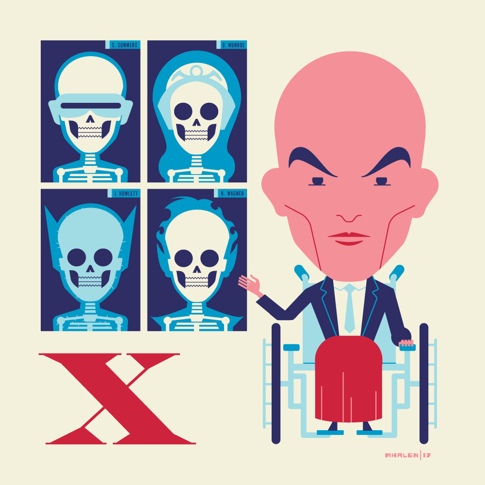 "Tom Whalen ""X is for X-Rays"" Print"